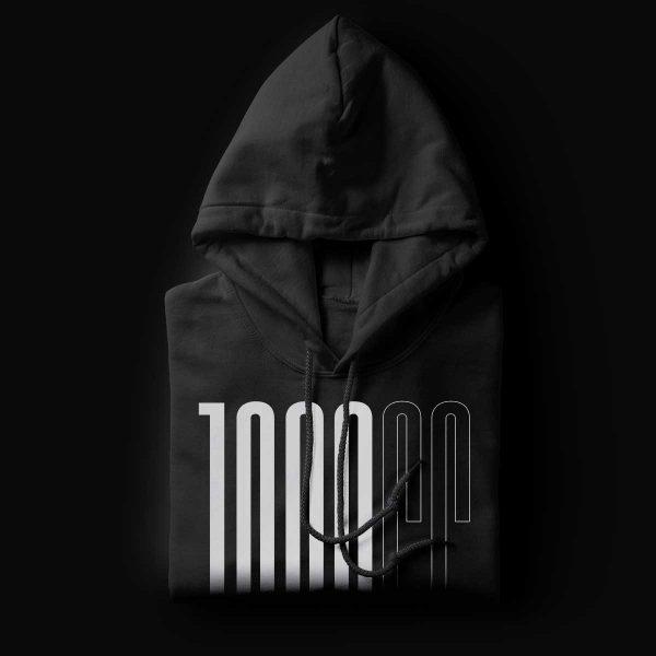 1000cc Black Hoodie