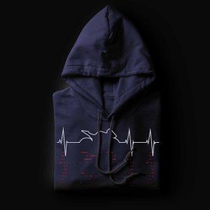 Sport Motorcycle Heartbeat Hoodie
