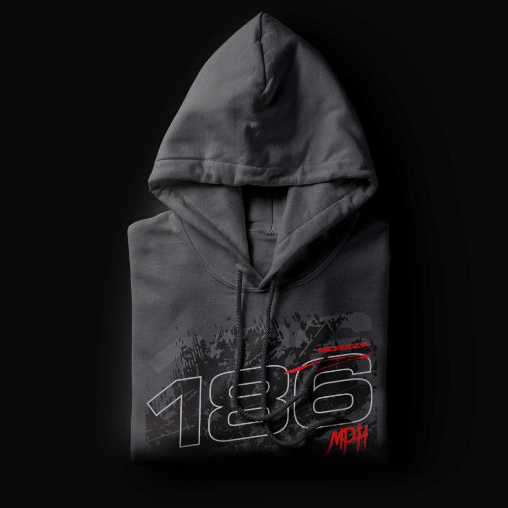 186MPH Asphalt Hoodie