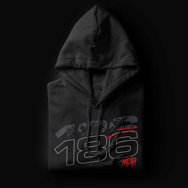 186MPH Helmet Black Hoodie