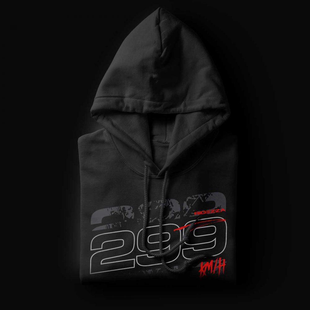 299KMH Motorcycle Black Hoodie