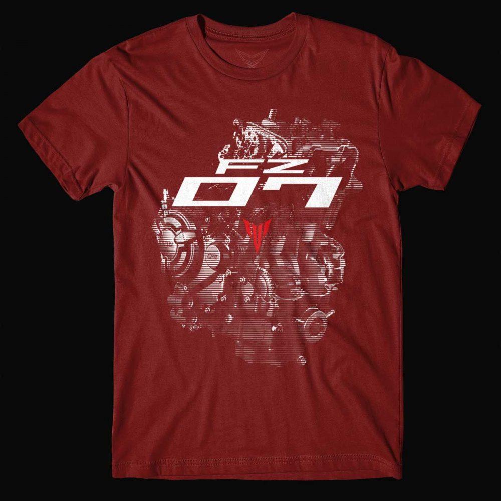 Yamaha Fz 07 Engine T Shirt Ridezza