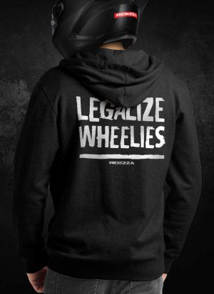 Legalize Wheelies Hoodie (Back)