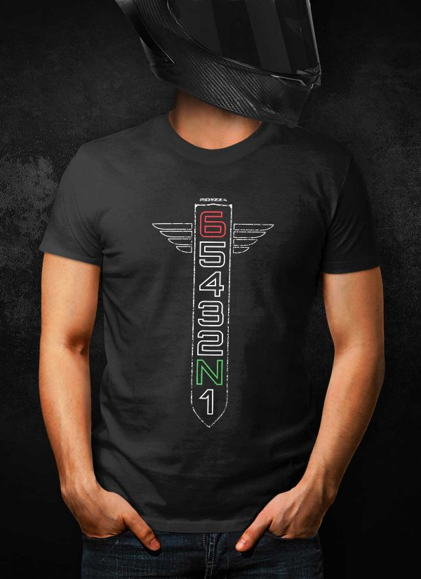 Motorcycle Gear Shift Racing 1N23456 T-Shirt