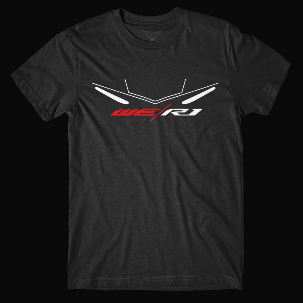 Black yamaha t shirt - We R1 Black Motorcycle T Shirt