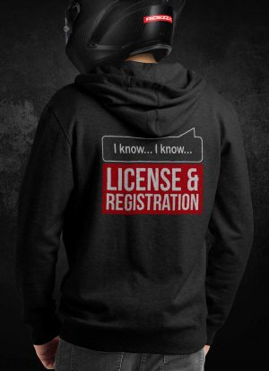License & Registration Hoodie [Rear]