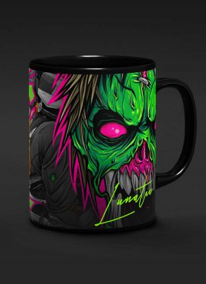 DirtBike Lunatic 15o.z Black Mug
