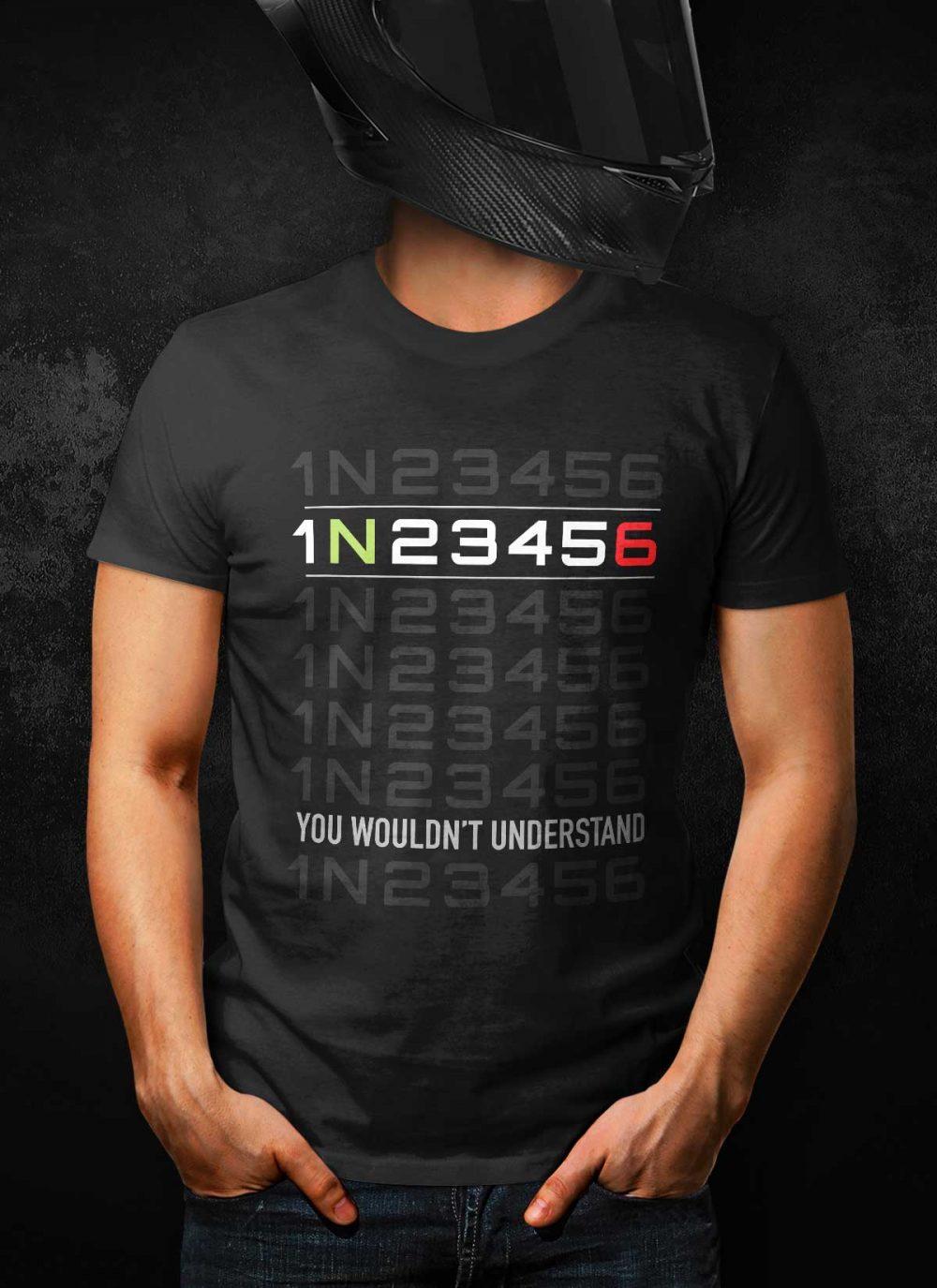 Sportsbike 1N23456 Gear Shift T-Shirt