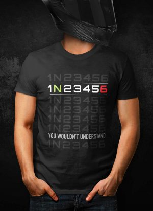 Sportsbike 1N23456 Gear Shift T-Shirt