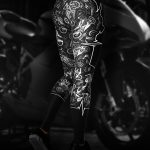 Biker Heartbeat Motorcycle Leggings