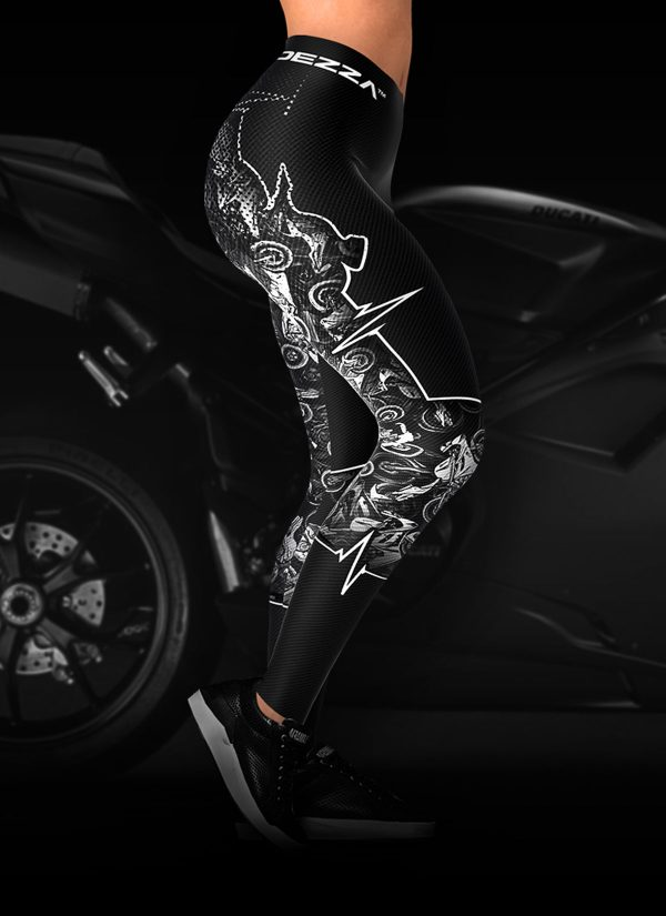 Biker Heartbeat Motorcycle Leggings