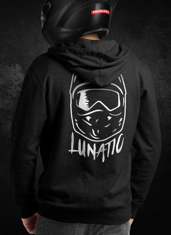 DirtBike Lunatic Crew Hoodie [Rear]