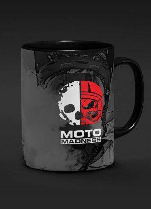 Moto Madness 15o.z Black Mug
