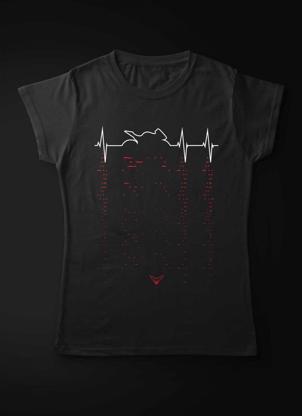 Motorcycle Heartbeat Women T-Shirt