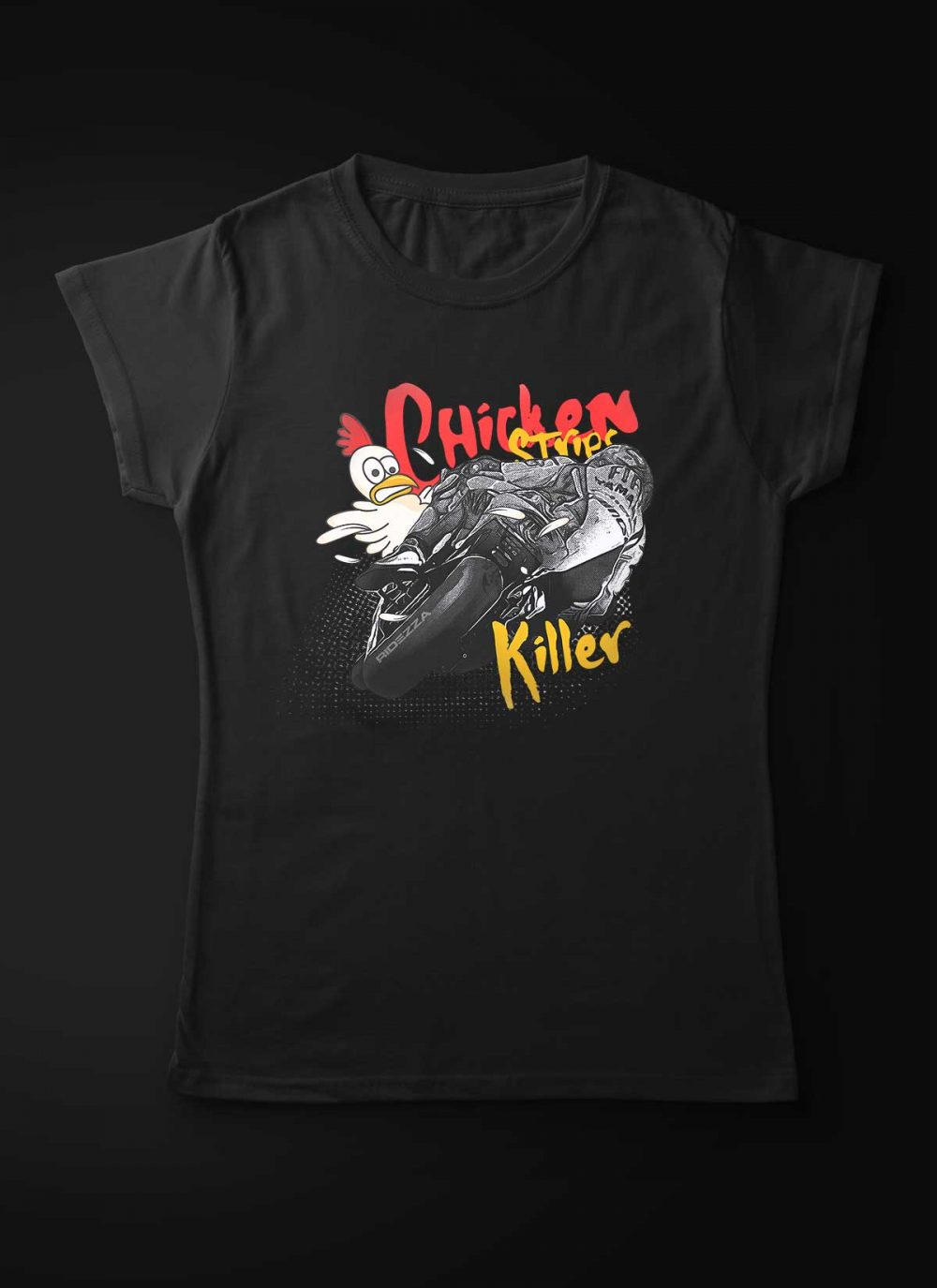 Motorcycle Chicken Strips Killer Women T-Shirt