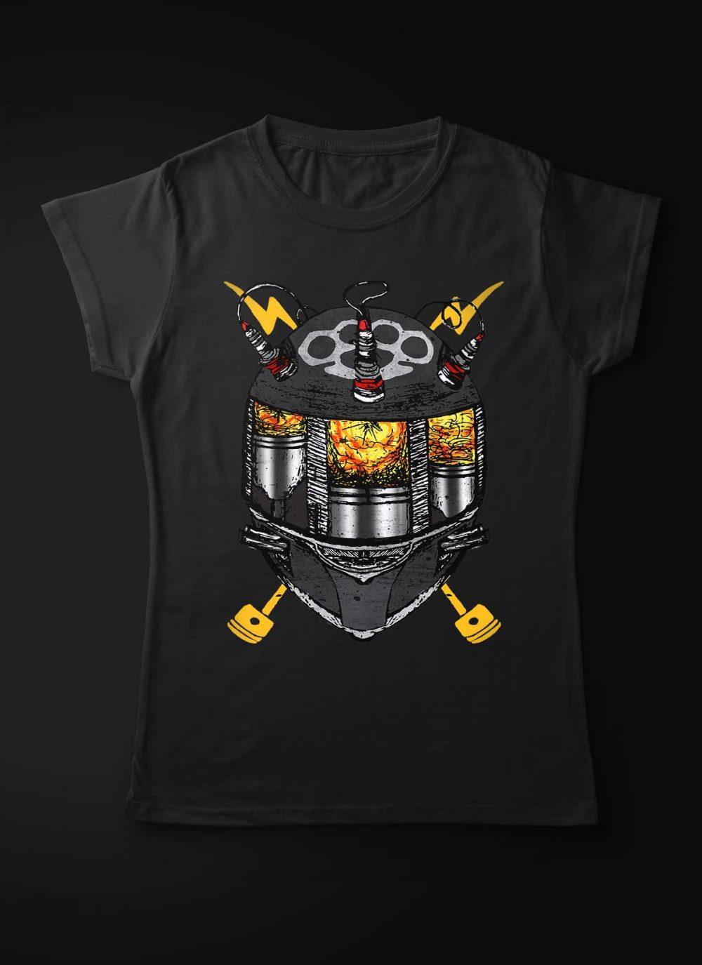 Motorcycle Piston Head Women T-Shirt