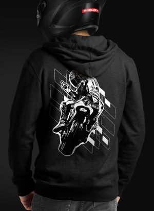 Hang Up Motorcycle Hoodie [Rear]